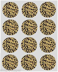 12 leopard print design cupcake decoration edible cake for Animal print edible cake decoration