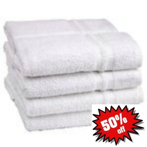 12 NEW WHITE 100% COTTON HOTEL HAND TOWELS 16X27 in Home & Garden, Bath, Towels & Washcloths   eBay