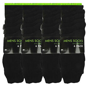 12-PAIRS-mens-SOCKS-black-thin-summer-rjm