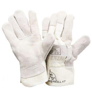 12-Paar-LEDER-Handschuhe-Rindkernspaltleder-SUPERBULL-4-Arbeitshandschuhe