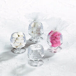 Wedding Favor Cups on Snifter Glasses Candy Cup Party Favor Wedding Bridal Shower   Ebay