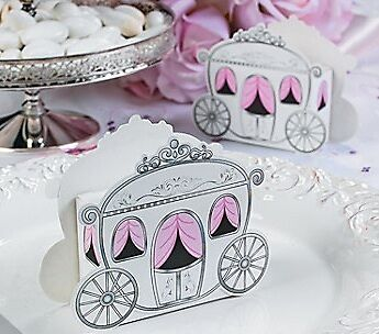 12 Princess Carriage Treat Box Birthday Party Favor Wedding Baby Shower Favors