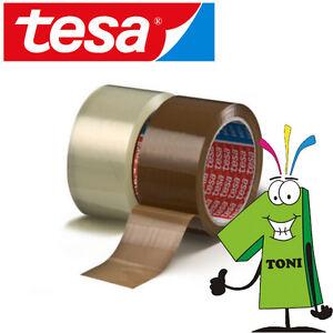 12-Rollen-TESA-Packband-64014-PP-leise-abrollend-TOP-Paketklebeband