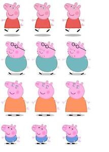 ... Stand Up Peppa Pig Edible Wafer Paper Cupcake Toppers - 4 characters