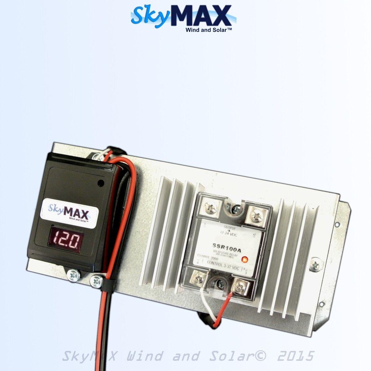 12 v 100 amp solid state digital charge controller for solar panels