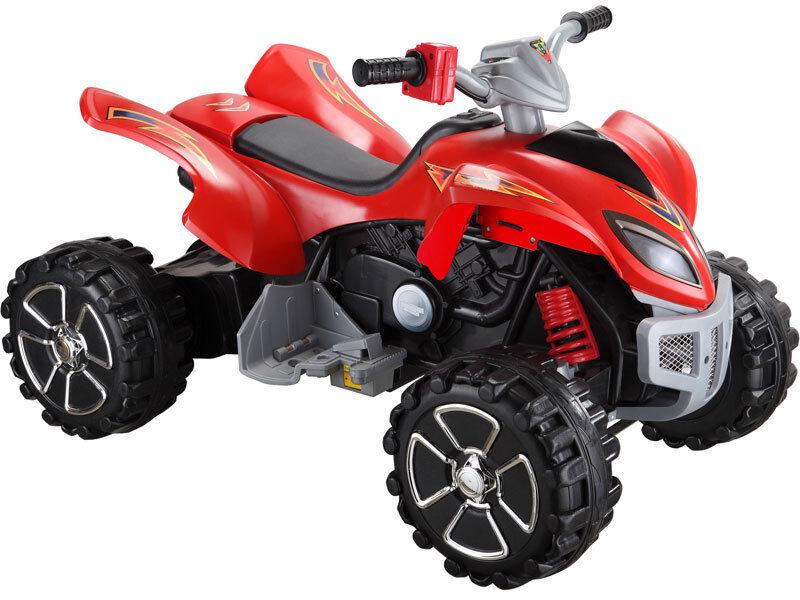 12 Volt Mini Motos Red ATV Quad Motorcycle Bike Electric Kids Ride on Toy Car