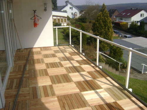 23 m terrassenfliesen l rche 50x50cm holz fliese terrasse terrassendiele balkon ebay. Black Bedroom Furniture Sets. Home Design Ideas