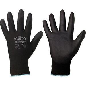 12-paar-PU-schwarz-Arbeitshandschuhe-Gr-10-Montagehandschuhe-Gartenhandschuhe