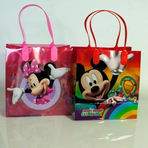12 Pcs Disney Mickey Minnie Mouse Goodie Bags Party Favors Candy Loot Treat Gift