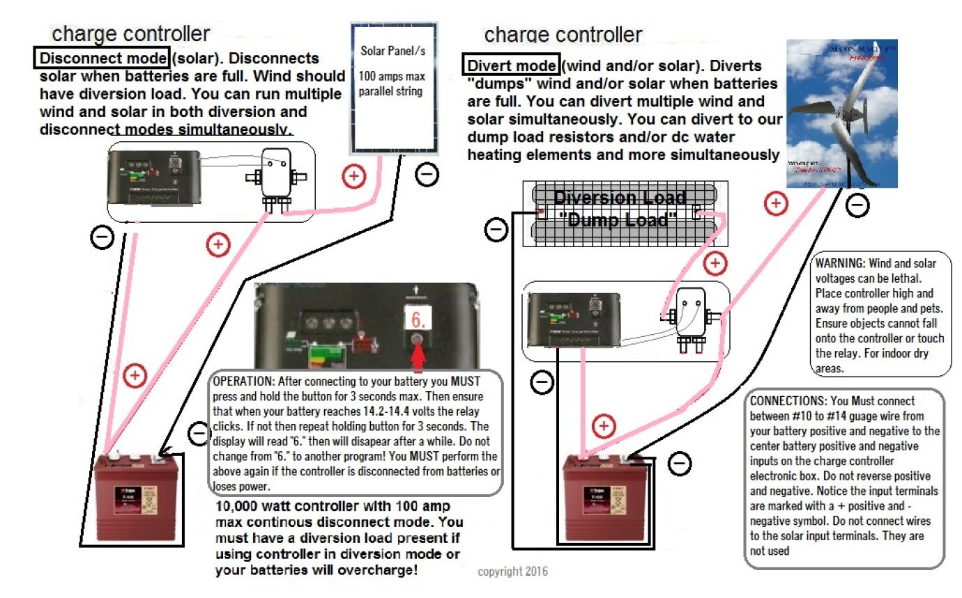 Wind Turbine Charge Controller Wiring Diagram Free Battery Circuit 12 Volt 400 Amp 10 000 Watt For Solar Rh Ebay Com Schematic