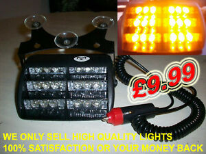 12 Volt Amber LED Strobe Light