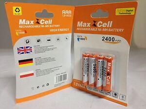 12-x-Aufladbare-Batterien-Akku-Accu-Batterie-MaxCell-2400-mAh-AAA-R03-1-2V-NI-MH