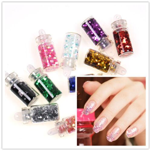 12 x nail art hexagon glitter glass mini bottles manicure for 12 x 60 window