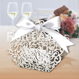 Ivory Wedding Favor Boxes on 120pcs Lace Wedding Favor Boxes In White Or Ivory   Ebay