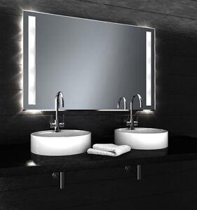 120x80 badezimmerspiegel beleuchtet badspiegel halogen spiegel led tauglich bs ebay. Black Bedroom Furniture Sets. Home Design Ideas