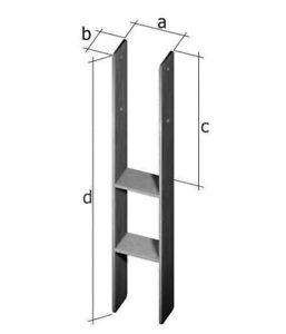 121 mm h anker 6x60x600 mm pfostenanker h pfostenanker betonanker anker ebay. Black Bedroom Furniture Sets. Home Design Ideas