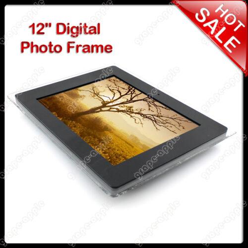 12INCH LCD DIGITAL PHOTO PICTURE FRAME 12 MP3 MP4 MOVIE PLAYER SCA-0818-Black in Cameras & Photo, Digital Photo Frames   eBay