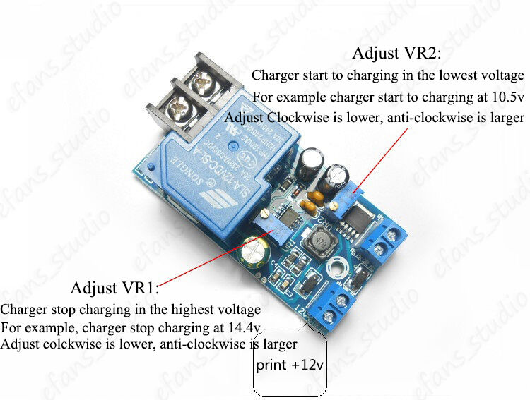 12V 30A Automatic Battery Charging Protection Board Auto Charger ...