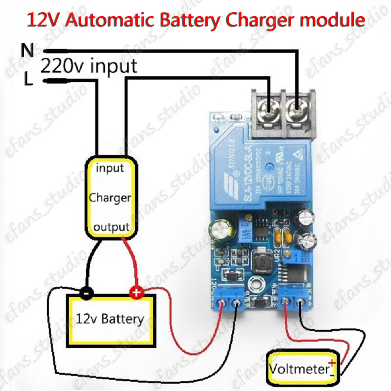 12v automatic battery charging control switch protection ... circuit diagram 3 phase battery charger 12v battery charger circuit with overcharge protection #11
