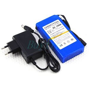 12V-6800mAh-Lithium-ion-Super-Rechargeable-Battery-Pack-AC-Charger-DE88
