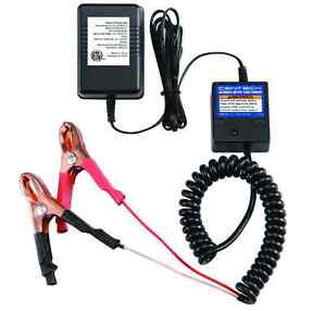 Car battery charger with auto shut off timer