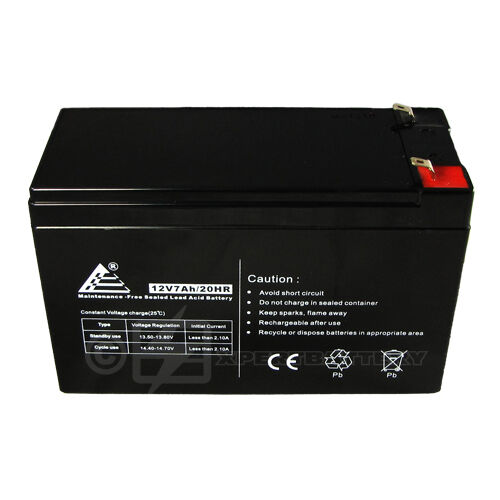 12Volt 7.0Ah 12V 7AH Sealed Lead Acid Battery (SLA) with F1 terminal in Consumer Electronics, Multipurpose Batteries & Power, Rechargeable Batteries | eBay