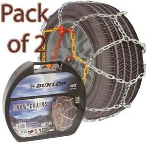 12mm-Pair-Dunlop-Multi-Grip-Husky-Arctic-Polar-Heavy-Duty-Steel-Ice-Snow-Chains