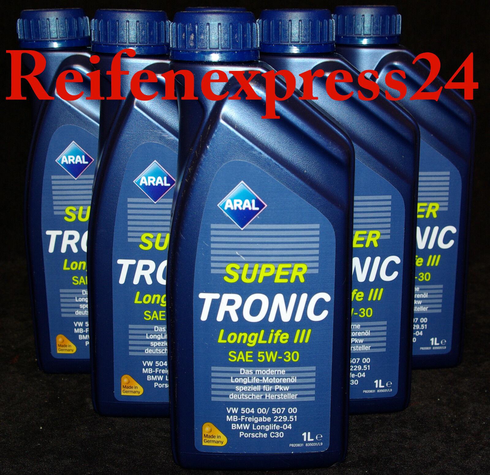 5x1 liter aral supertronic longlife iii 5w 30 motor l vw. Black Bedroom Furniture Sets. Home Design Ideas