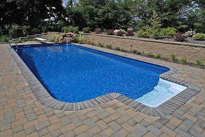 12x24 Inground Rectangle Steel Wall Swimming Pool Kit w/Step ...