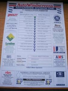 13-11-1996-Colour-Teamsheet-Birmingham-City-v-Bolton-Wanderers-No-obvious-fau