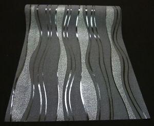 Tapeten wohnzimmer angebote auf waterige - Tapeten schwarz weiay silber ...