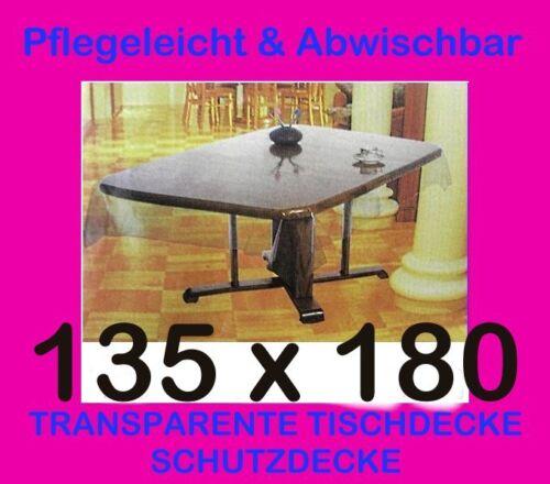 135x180 cm tischdecke durchsichtig transparent schutzdecke pflegeleicht vinyl ebay. Black Bedroom Furniture Sets. Home Design Ideas