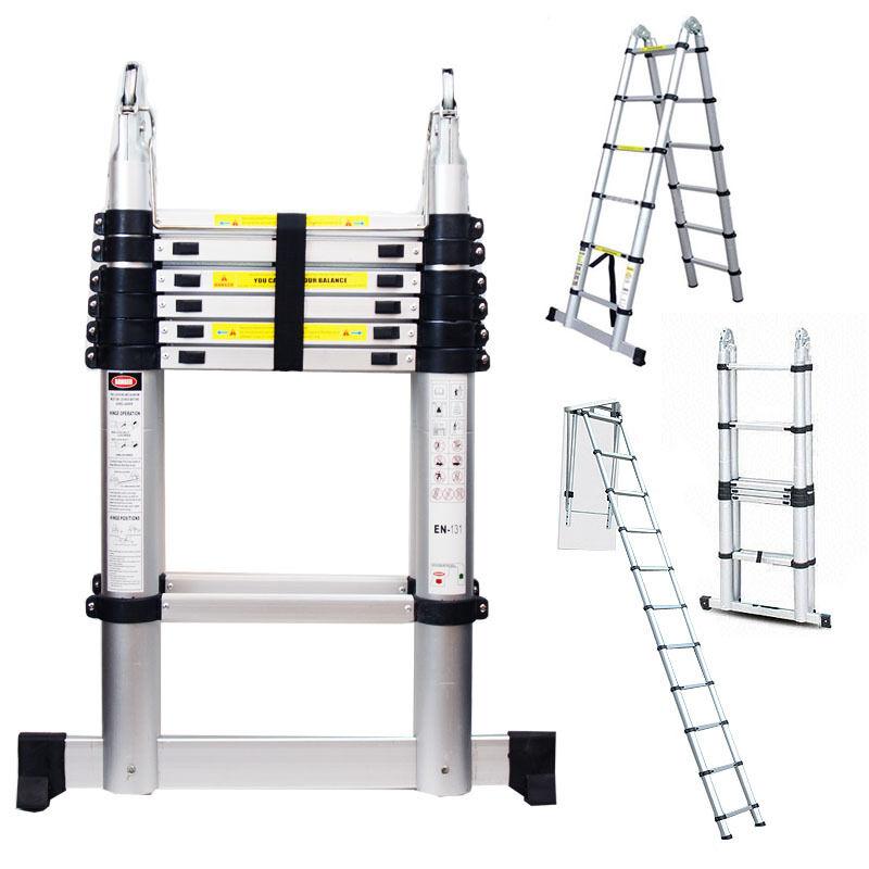 14 Ft Aluminum Ladders : Ft multi purpose telescoping extension ladder