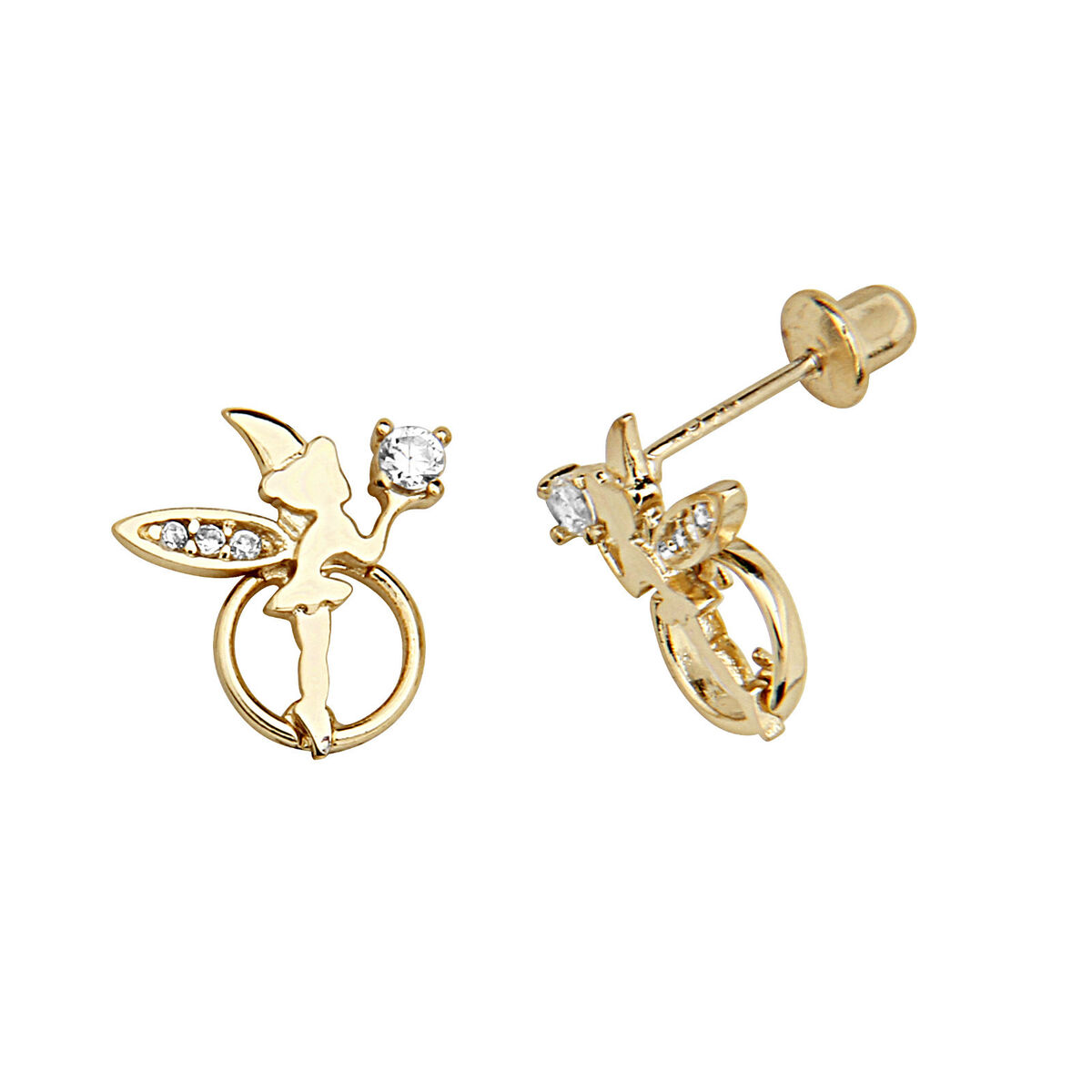Screw Back Earrings http://www.popscreen.com/p/MTU4MDExNjc2/14K-Gold-Plate-Brass-Silver-Post-Angel-Screw-Back-Earring