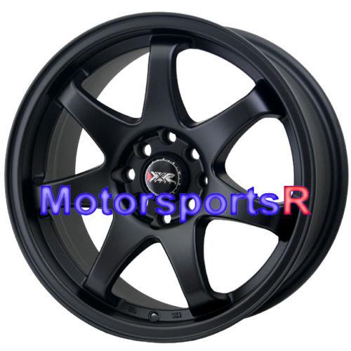 15 15x7 XXR 522 Flat Black Concave Rims Wheels 4x100 03 04 05 06 Scion XA XB E30