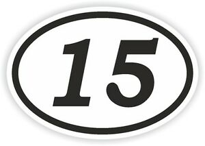 Car Numbers Decals 15