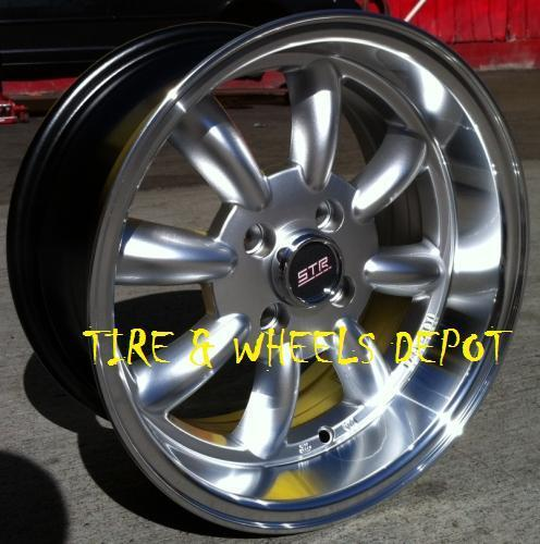15 INCH STR503S SILVER/MEC RIMS AND TIRES 4X100 ACCORD