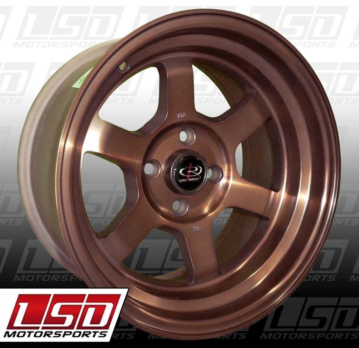 15 Rota Grid V Sports Bronze Rims Wheels 15x8 0 4x100 Miata Scion XB