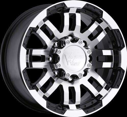 "15"" Vision Warrior Black Machined Wheels Rims 5x4 5 5x114 3 Jeep Wrangler TJ YJ"