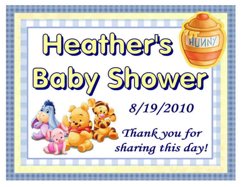 15 WINNIE THE POOH BABY SHOWER FAVORS MAGNETS HUNNYPOT