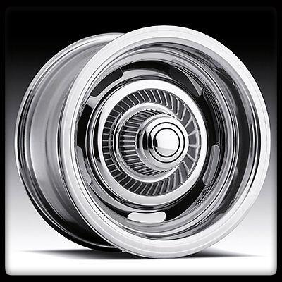 15 x 8 Vision 57 Rally 5x5 5x127 Chevy Lincoln Chrome Wheel Rims 15