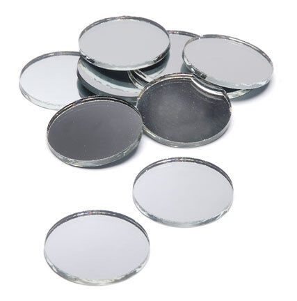 150 Pieces - 1 inch Round Glass Mirrors - Mosaic Wedding Centerpiece in Crafts, Glass & Mosaics, Glass & Mosaic Tiles | eBay