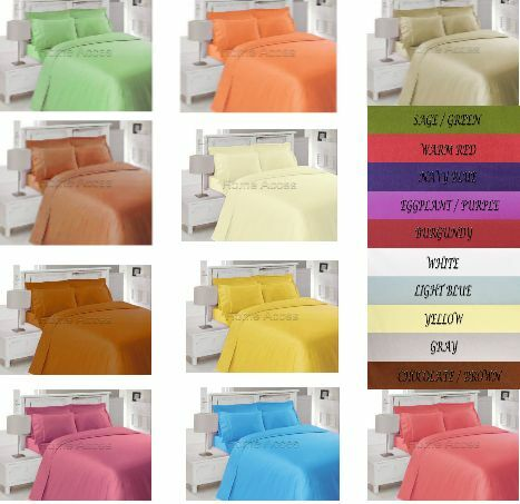 1500 TC THREAD COUNT 4 PIECE BED SHEET SET ALL COLORS AND SIZES ARE AVAILABLE in Home & Garden, Bedding, Sheets & Pillowcases | eBay