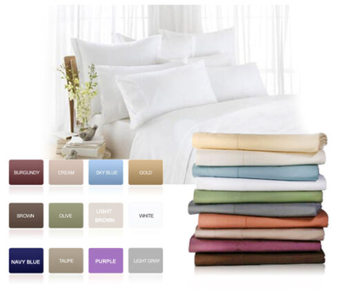 1500TC Super SOFT Bed Sheet Set Flat Fitted Deep Pocket All Sizes 12 Colors in Home & Garden, Bedding, Sheets & Pillowcases | eBay