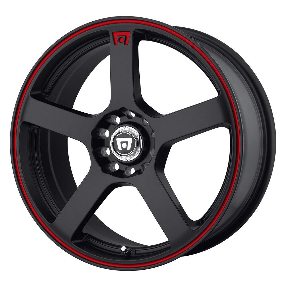 15x6 5 Motegi MR116 Black Wheel Rim s 5x114 3 5 114 3 5x4 5 15 6 5