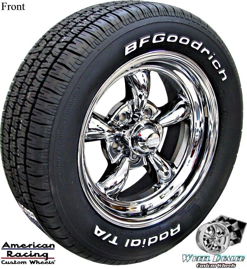 15x7 8 Chrome American Racing Wheels Tires Pontiac Firebird Trans Am