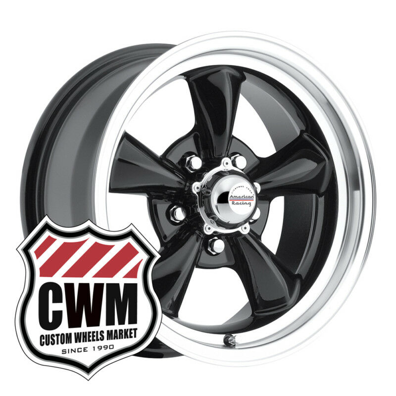 15x7 Black Classic Wheels Rims 5x4 75 Lug Pattern for Chevy 150 210