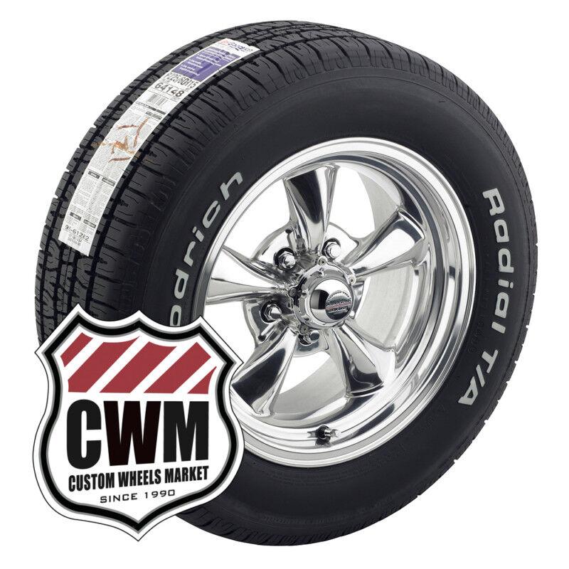 15x7 Chrome Wheels Rims BFG Radial T A Tires 225 70R15 for Chevy