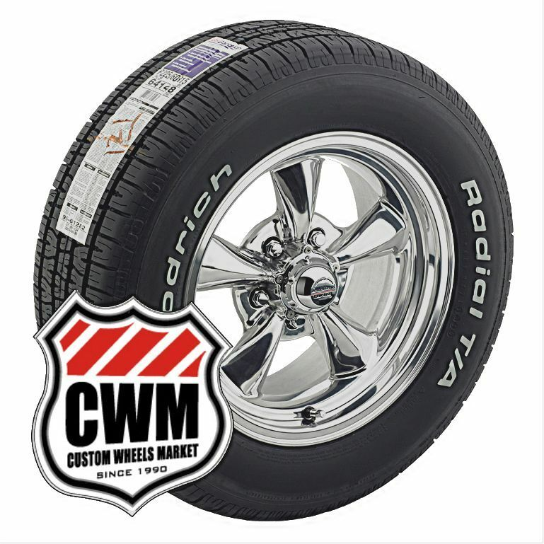 15x7 Polished Aluminum Wheels Rims BFG Tires 225 60R15 for Chevy