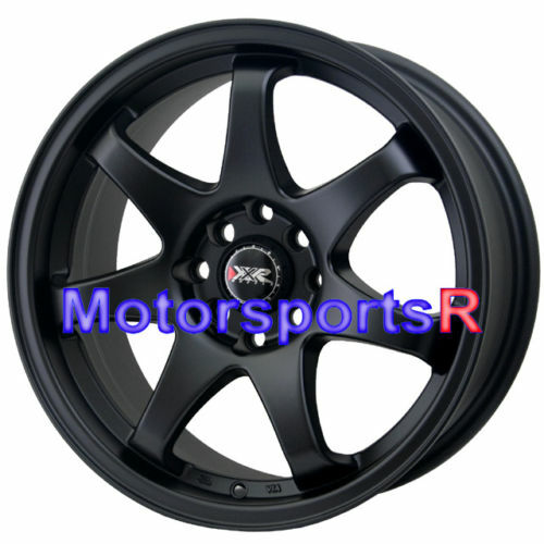 16 16x7 XXR 522 Flat Black Concave Rims Wheels 4x100 95 Honda Civic SI CRX Hatch